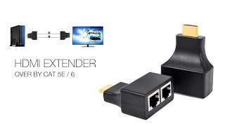 HDMI to Dual RJ45 Network Cable Extender Over Ethernet 1080p HSV373 Original