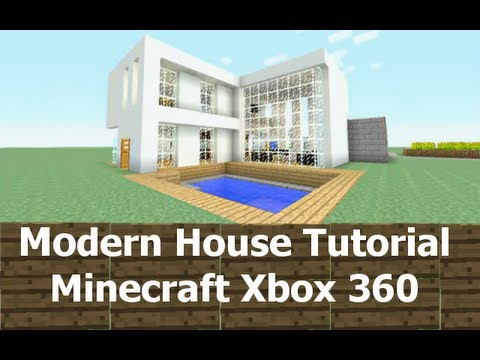 Modern house tutorial minecraft xbox 360 2 youtube for Modern house xbox minecraft