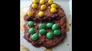 Easter Egg Giant Oatmeal M& M Cookies