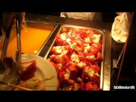 [HD] Lucky Lobster Buffet - Pala Casino - Pala Choice Buffet Tour - Lobster Festival - YouTube