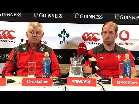 Ireland v Wales - Warren Gatland & Alun Wyn Post Match Press Conference - International Friendly
