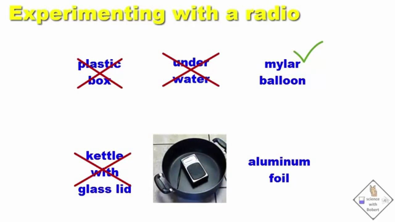 What Can Block A Radio Wave Experiments A Science With Bobert Video