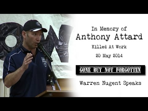 Killed At Work - In Memory of Anthony Attard