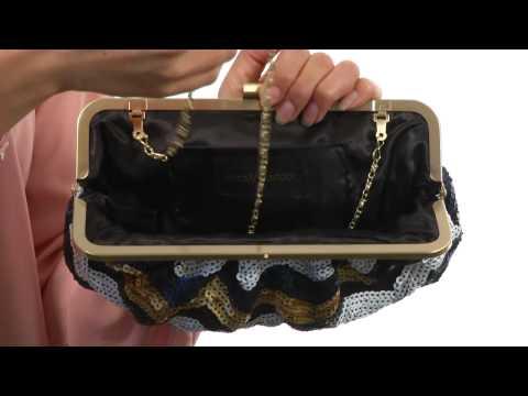 Jessica McClintock Sequin Chevron Frame Clutch  SKU:#8354518
