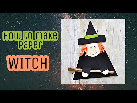 🧙DIY Paper Witch/How to make paper witch/Halloween Craft/Easy Paper Craft/Halloween Easy Kids Craft