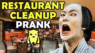 Asian Restaurant Cleanup Prank - Ownage Pranks
