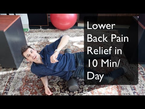 Lower back pain relief with foam roller in 10 minutes a ...