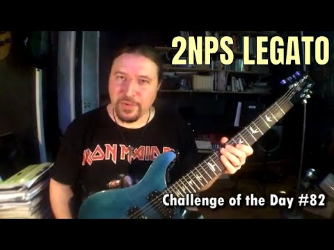 ShredMentor Challenge of the Day #82: 2NPS Legato, A Harmonic Minor