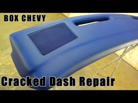 Cracked Dashboard Repair With Fiberglass BOX CHEVY CAPRICE DASH RESTORE How To Fiberglass Dash Pad