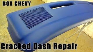 Cracked Dashboard Repair With Fiberglass BOX CHEVY CAPRICE DASH RESTORE How To Fiberglass Dash Pad