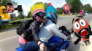 Красивая девушка на мотоцикле, новенький GSX-R750 L0