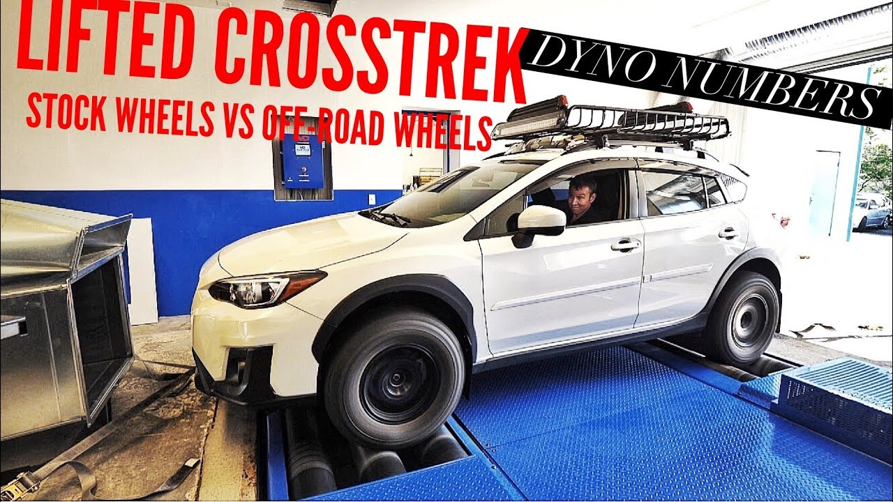 Subaru Crosstrek Off Road >> LIFTED SUBARU CROSSTREK DYNO NUMBERS? STOCK TIRES VS MUD ...