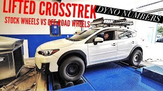 LIFTED SUBARU CROSSTREK DYNO NUMBERS? STOCK TIRES VS MUD TERRAINS