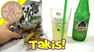 Jarritos Grapefruit Soda, Barcel Takis Guacamole Corn Snacks
