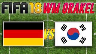 Südkorea vs. Deutschland 🎮 FIFA WM 2018 Orakel