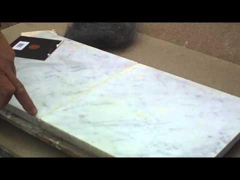 Lastre e piastrelle in marmo calacatta cremo