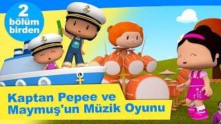 Kaptan Pepee ve Maymuş'un Müzik Oyunu - 2 Bölüm Bİr Arada | Düşyeri