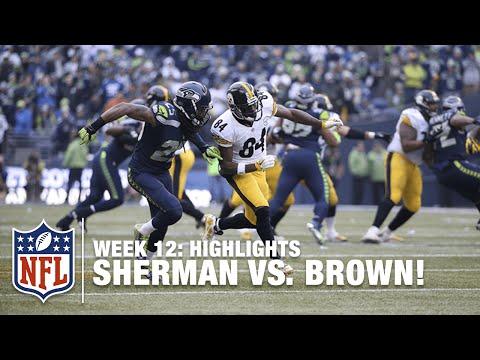 Sunday Showdown: Richard Sherman vs. Antonio Brown! | Steelers vs. Seahawks (Week 12) | NFL