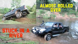 Toyota hilux river crossing sri lanka