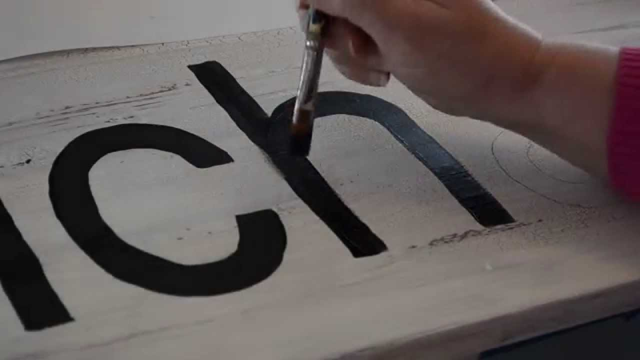paint easy script or print lettering for signs