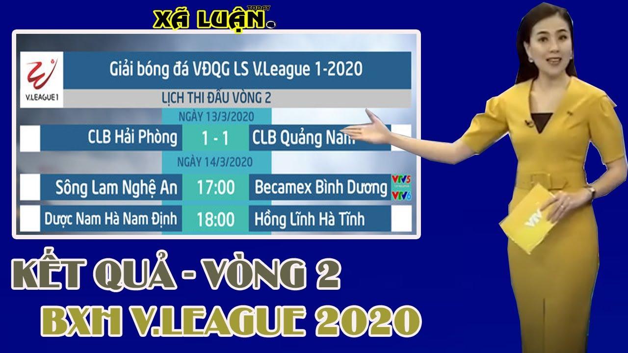 KẾT QUẢ VÒNG 2 V.LEAGUE 2020 | BẢNG XẾP HẠNG V.LEAGUE 2020