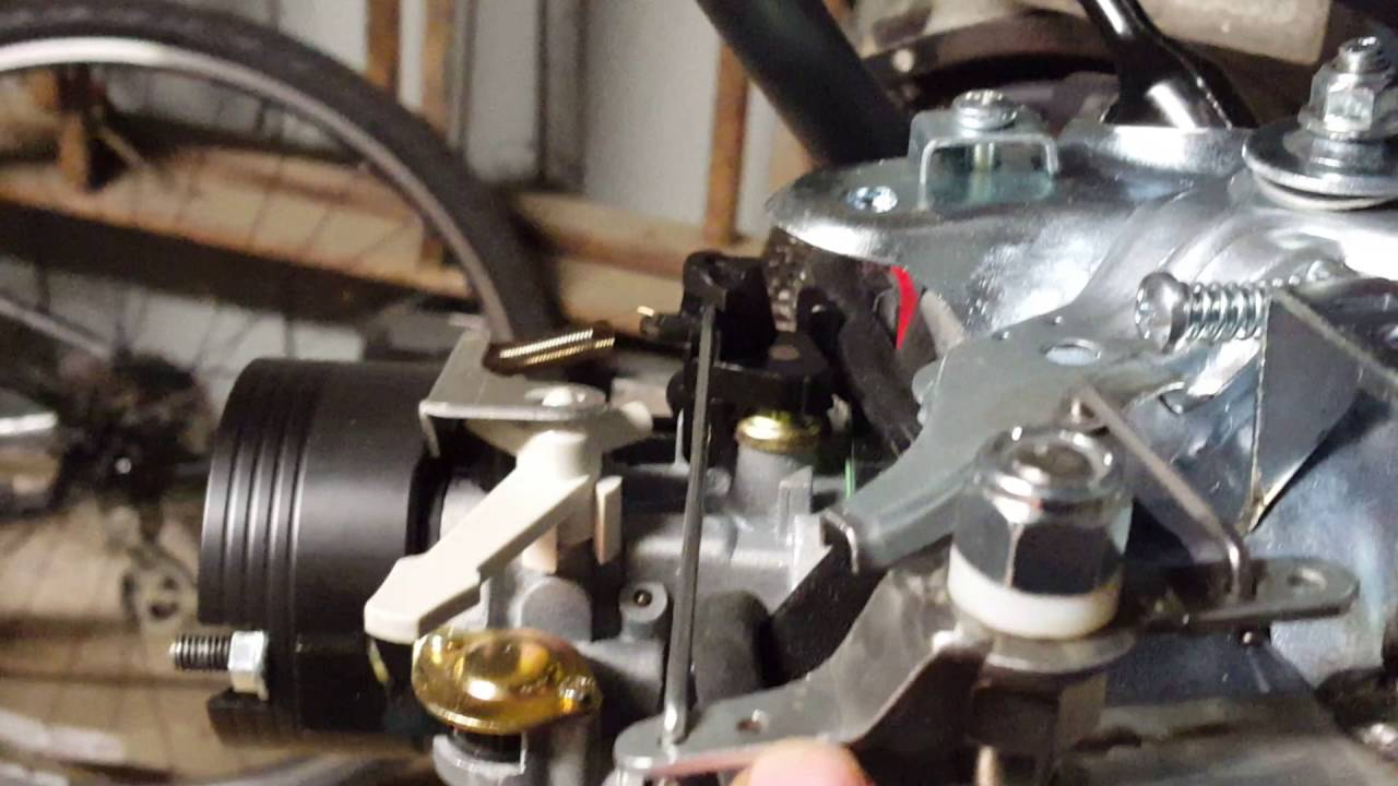 How to make a working throttle on a 301 Predator engine after removing the  governor