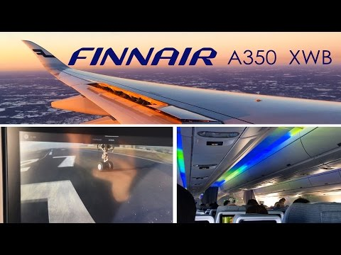 Finnair Airbus A350 XWB London Heathrow to Helsinki FULL FLIGHT