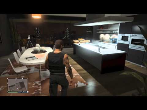 Hd gta v online property tour dream tower apartment for Designer apartment gta 5