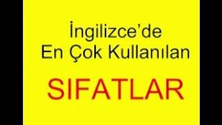 en yaygın popüler ingilizce sıfatlar, most common adjectives Turkish English