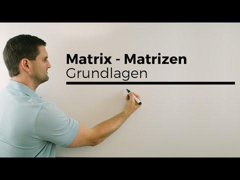 Matrix, Matrizen, Grundlagen, Koeffizienten, Multiplikation | Mathe by Daniel Jung