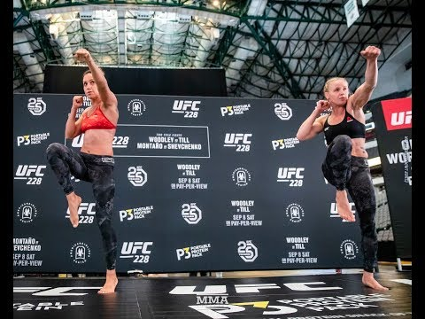 UFC 228: Valentina Shevchenko Open Workout Highlights - MMA Fighting