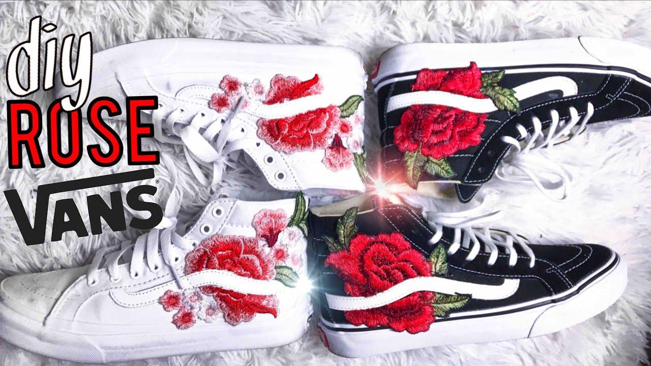 vans rose patch