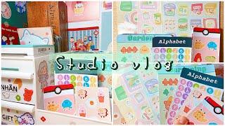 STUDIO VLOG// những tấm sticker xinh xắn mình bán   lucinda nguyen screenshot 4