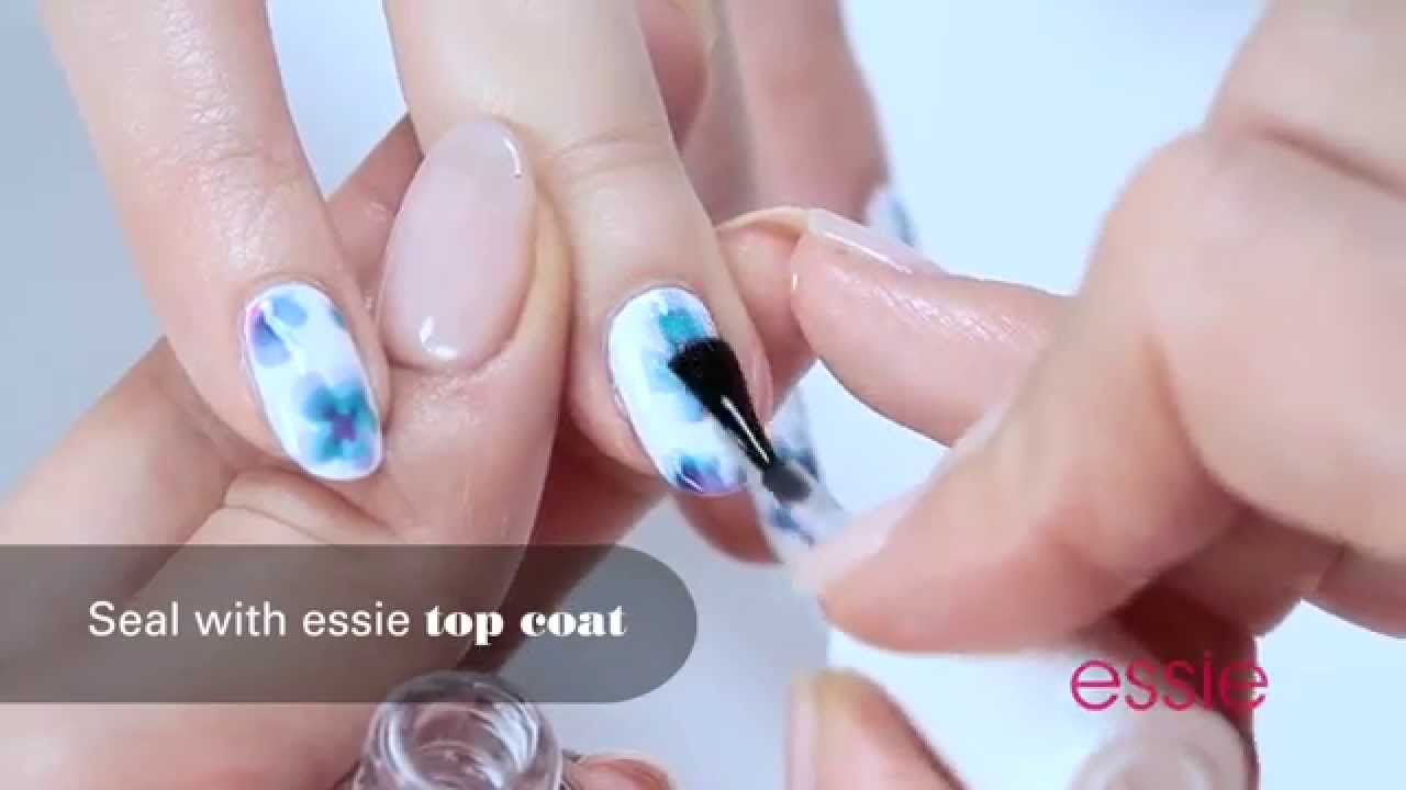 Essie - Abstract Floral Nail Art Tutorial | Ulta Beauty - YouTube