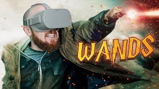 I play Wands VR and battle wizards in virtual reality. Wands VR is ...