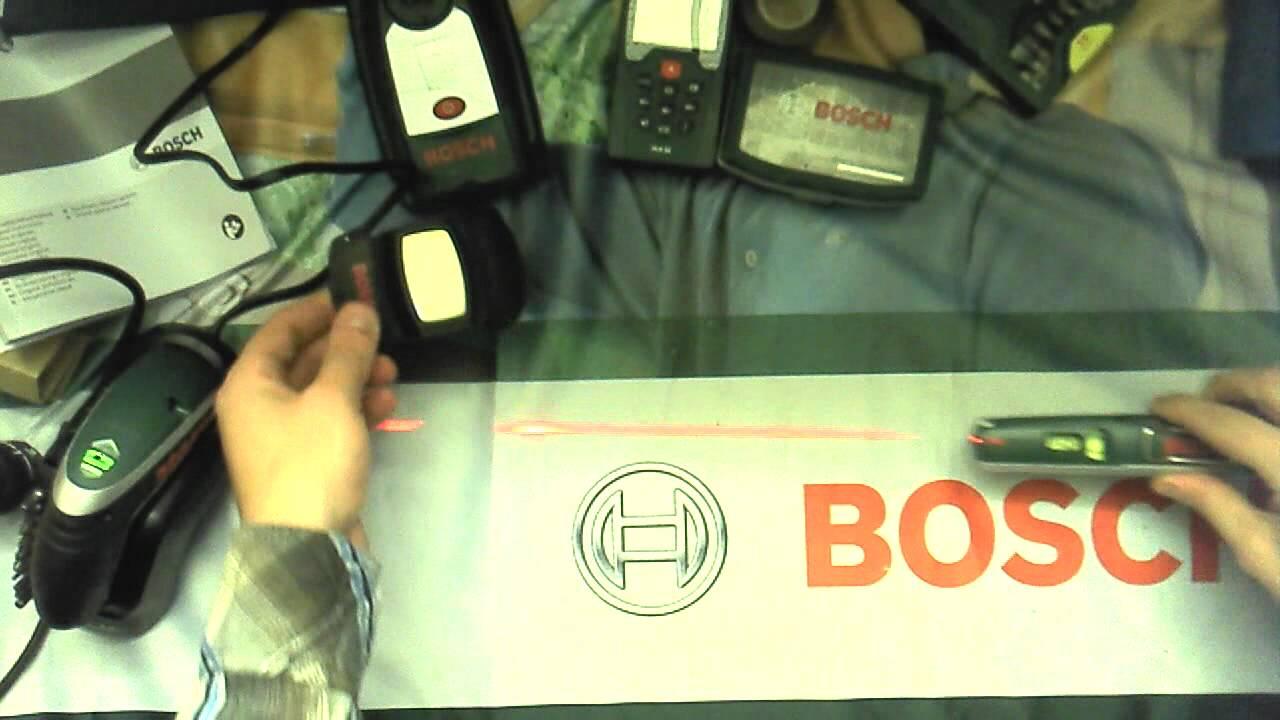 Laser Entfernungsmesser Und Wasserwaage : Bosch laser wasserwaage youtube