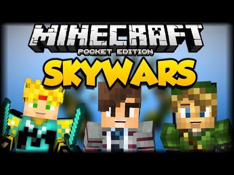 OMG DONDE ESTAN LAS COSAS? - Minecraft PE - Skywars Con Liongold0919 y NoahGamer - Servers LBSG
