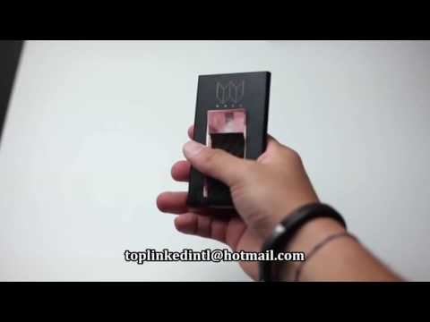 Slim Aluminium  Wallet  Card Holder and Carbon Fiber Money Clip