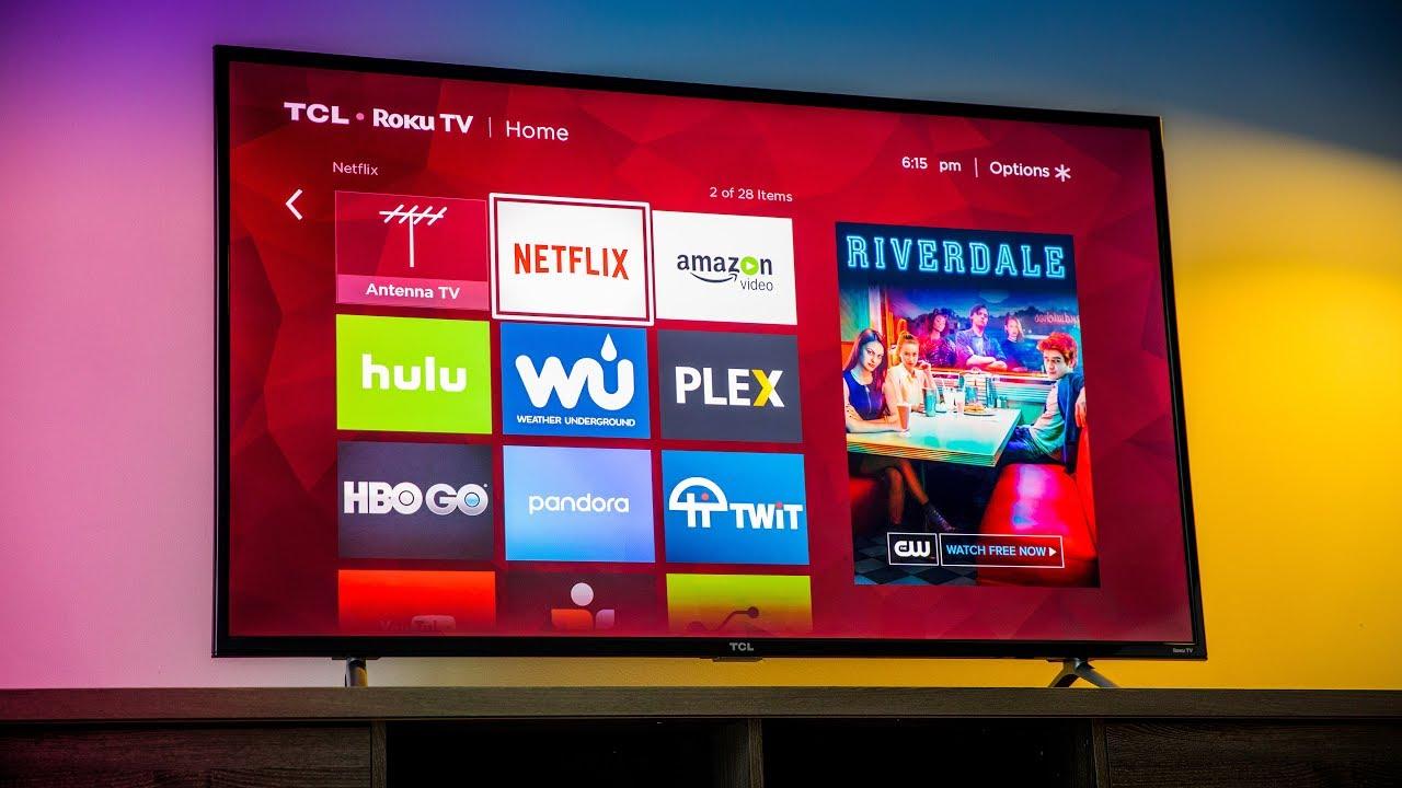 Tcl 55 Inch 4k Ultra Hd Roku Smart Led Tv Youtube