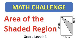 Grade 4 Math Challenge: Finding the Area of the Shaded Region
