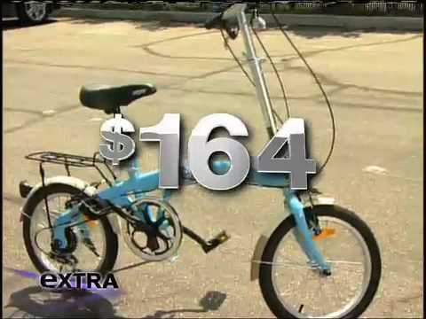 Citizen Bike TOKYO folding bike featured on Extra with Mario Lopez