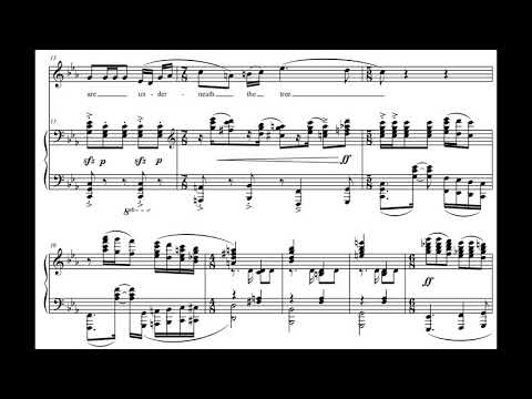 George N. Gianopoulos - Three Songs Of Shattering For Mezzo-Soprano And Piano (2009) [Score-Video]