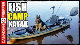 Overnight Fishing Trip with Large Dog in Kayak