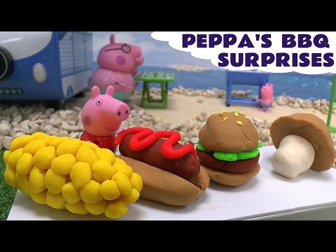 Peppa Pig Play Doh BBQ Surprise Eggs Thomas and Friends Disney Cars Frozen  Lalaloopsy Toys