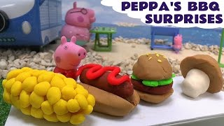 peppa pig play doh bbq surprise eggs thomas and friends disney cars frozen mermaid lalaloopsy toys
