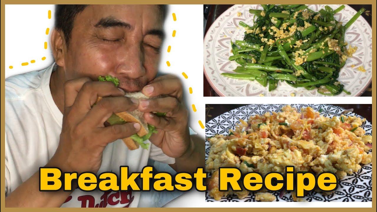 Chinese Kangkong With Garlic And Scramble Egg Breakfast Recipe I Edwin Guevarra Youtube