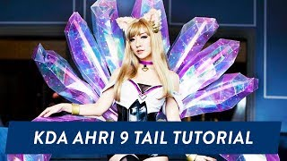 kda ahri 9 tail cosplay tutorial