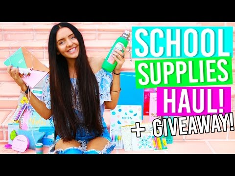 Back To School Supplies Haul 2016! + GIVEAWAY! (Stationery Haul for School!)