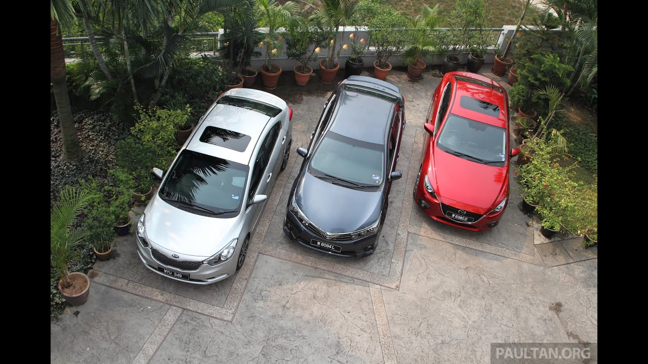 DRIVEN 2014 5 Mazda 3 vs Toyota Corolla Altis vs Kia Cerato