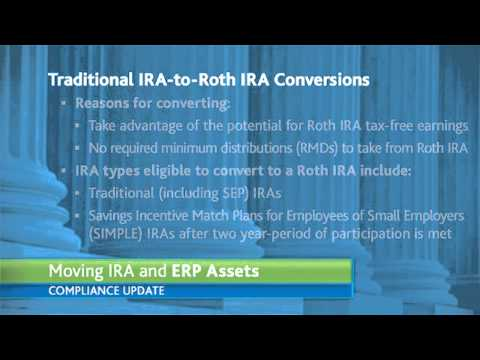 Moving IRA and Employer Retirement Plan Assets